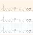 munich hand drawn skyline vector image vector image