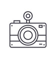 Photo camera line icon sign vector image