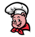 pig chef vector image vector image
