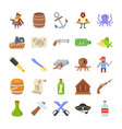 pirates flat icons vector image