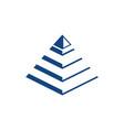 pyramide icon vector image vector image