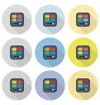 rectangular eyeshadow palettes flat icon set vector image vector image