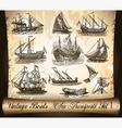 sail ships vector image