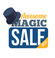 sale badge on white background vector image vector image