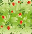 seamless floral patterns vector image