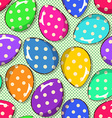 Seamless pattern of funny Easter eggs vector image vector image
