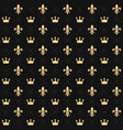 seamless pattern with king crowns and royal vector image vector image