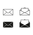 set envelopes icons vector image vector image