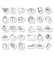 set shopping sticker icons vector image vector image