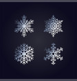 simple silver hand-drawn icons of a snowflake vector image