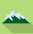 ski mountain icon flat style vector image