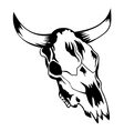 skull bull 2 vector image vector image