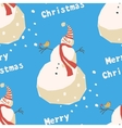 Snowmen background pattern vector image vector image