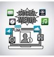 social media network icon vector image vector image