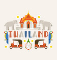 thailand banner traditions culture country vector image vector image