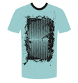 tshirt grunge design vector image vector image