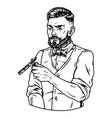 vintage monochrome concept stylish barber vector image vector image