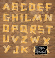 vintage style alphabet made yellow distressed vector image vector image
