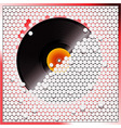 Vinyl record breaking white 3D circular tiles wall vector image vector image