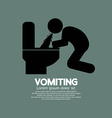 Vomiting Person Graphic Symbol vector image vector image