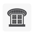 warehouse icon black vector image