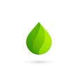 Water drop eco leaves logo design template icon vector image