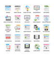 web and seo flat icons vector image vector image