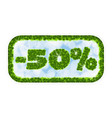 wobbler spring sale 50 percent off letters and vector image