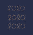 2020 lettering options inscription happy new vector image vector image