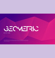 abstract gradient geometric design colorful vector image