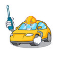 automotive taxi character mascot style vector image