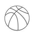basketball outline symbol vector image vector image