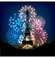 bastille day fireworks vector image vector image