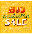 Big autumn sale lettering vector image vector image