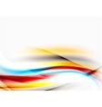 Blurred wave motion vector image vector image