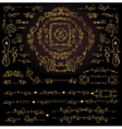 Calligraphic Royal Design ElementsGold Frames vector image