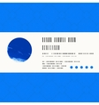 card with watercolour circle in blue vector image vector image