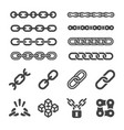 chain icon set vector image