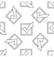 check mark in a box line icon isolated seamless vector image vector image
