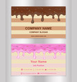 chocolate and doughnut glaze theme business card vector image