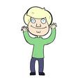 comic cartoon happy boy vector image vector image