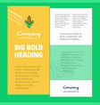 corn business company poster template with place vector image vector image