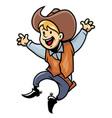 cowboy junior vector image vector image