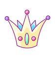 crown colorful cute cartoon icon vector image