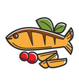 cyprus greek traditional cuisine fish vector image vector image