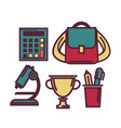 education themed set of things isolated cartoon vector image vector image