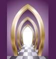 fantastic arcade of golden arches vector image
