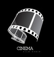 film strip on black vector image vector image
