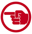 finger pointing symbol vector image vector image