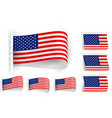 flag tag clothes label sticker sewn set usa vector image